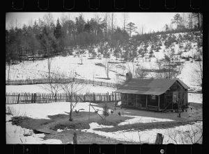 Mountain farmhouse in Appalachian Mountains.