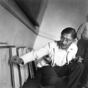 Josef Albers teaching at Black Mountain College by John Campbell.  Courtesy of the Black Mountain College Museum + Arts Center