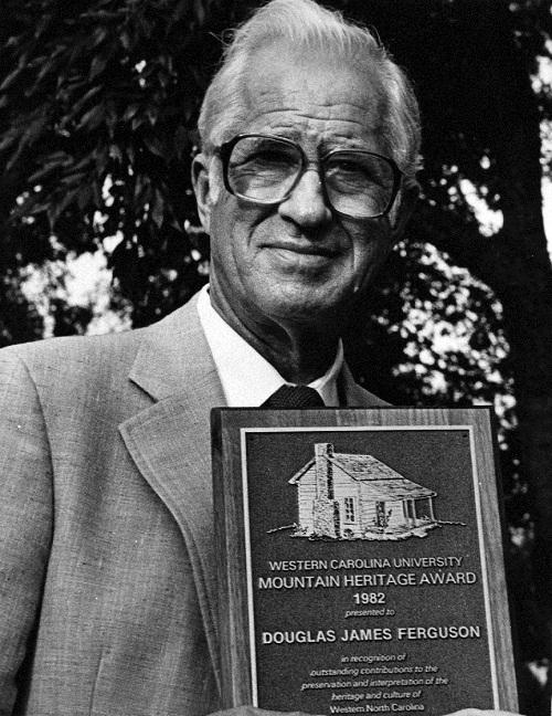 Douglas Ferguson with his Mountain Heritage Award