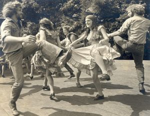 The Green Grass Cloggers during the 1970's.