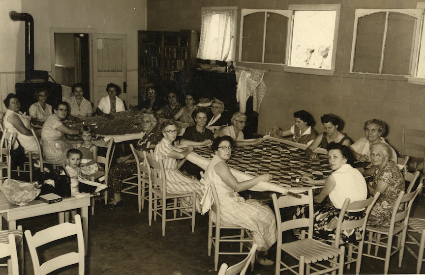 Addie Community Quilting Bee in the 1950s. Photo courtesy of the Sylva Herald and Joe McClure.