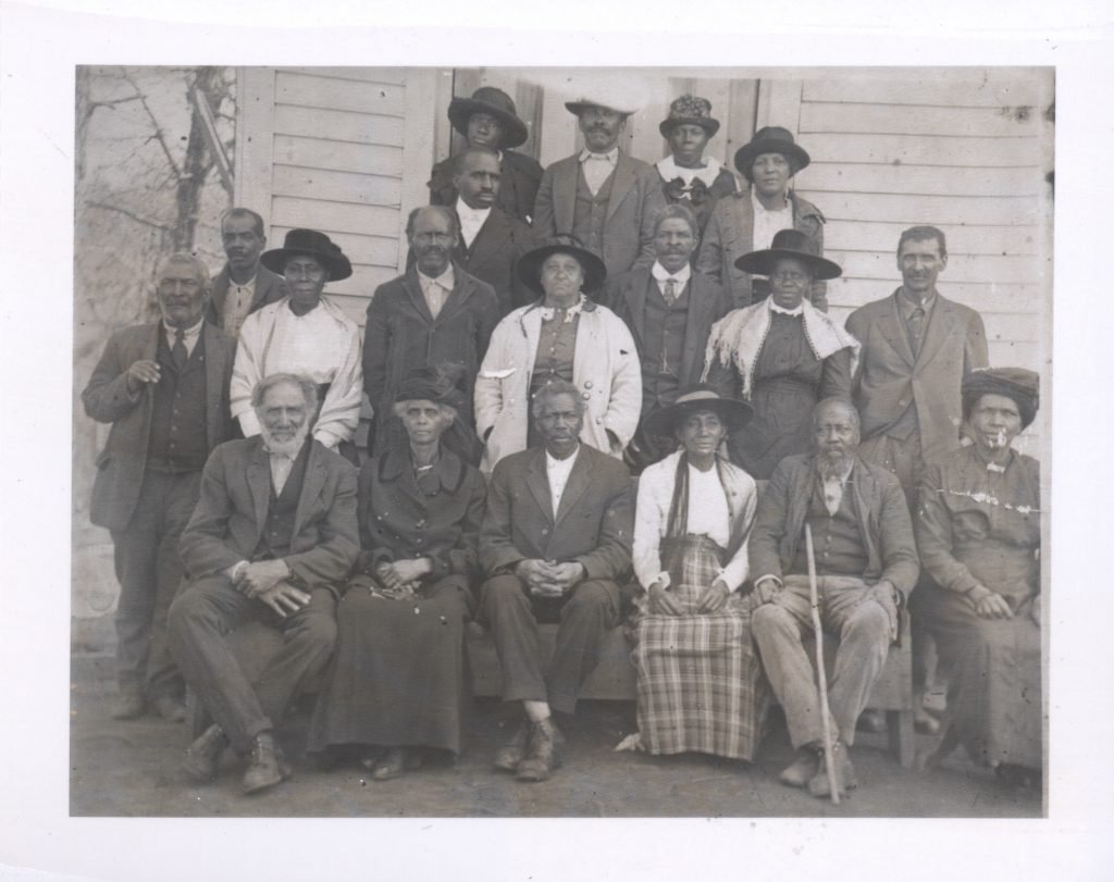 The congregation of Cullowhee's AME Zion church.